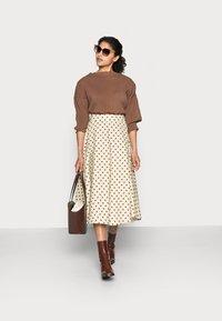 Love Copenhagen - VULAN SKIRT - A-line skirt - brown/cement - 1