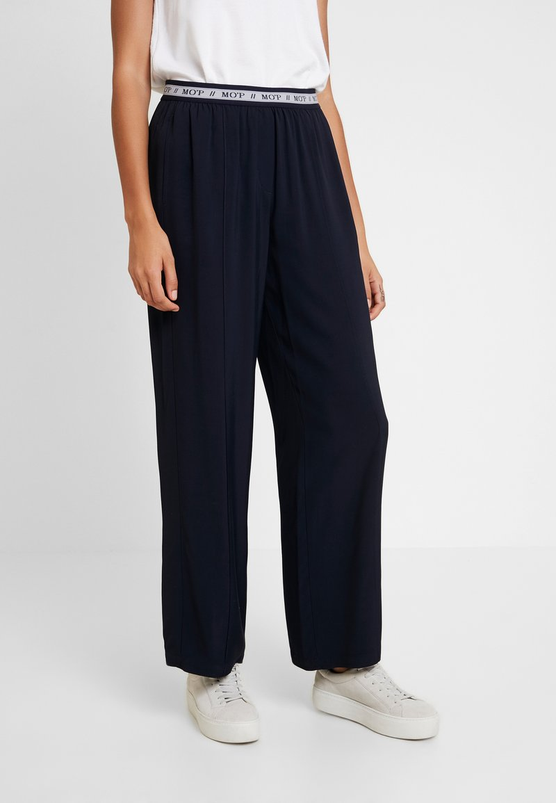 Marc O'Polo - PANTS WIDE LEG - Bukse - midnight blue