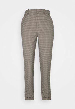 TROUSERS POLLY CHECK - Pantalon classique - beige