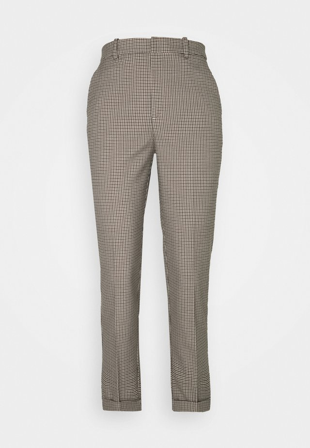 TROUSERS POLLY CHECK - Pantalones - beige