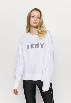 EMBROIDERED TRACK - Sweatshirt - white