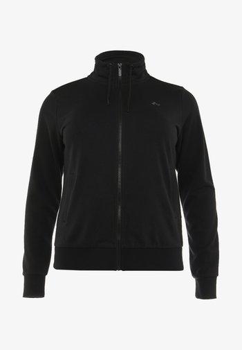 ONPELINA HIGH NECK CURVY  - Zip-up sweatshirt - black