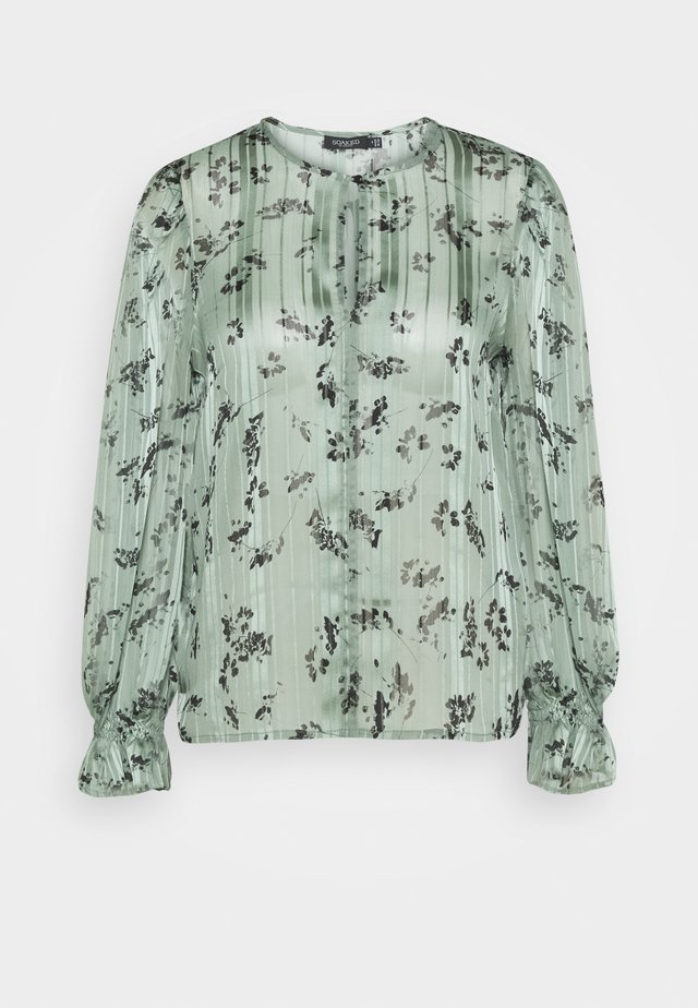 SLAKAKI HALIMA BLOUSE - Pusero - hedge green