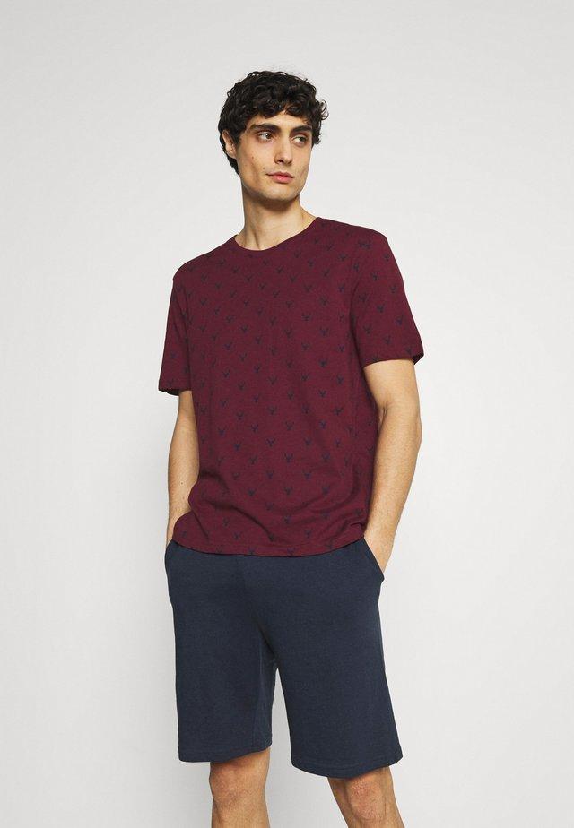 Pyjama - bordeaux/dark blue