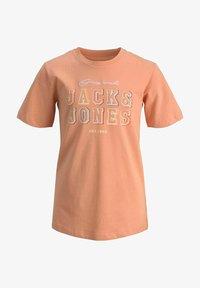 Jack & Jones Junior - T-shirt med print - shell coral - 5