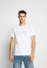 Puma - LOGO TEE - T-Shirt print - white - 0