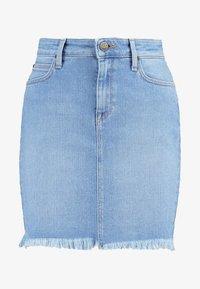 MID SKIRT - A-line skirt - light blue denim