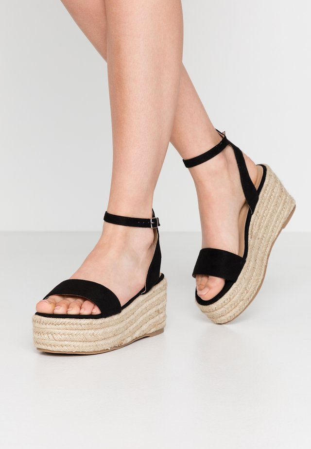 VEGAN  - Espadrillas - black
