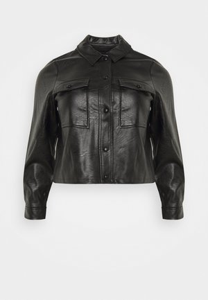 PCPAIA - Faux leather jacket - black