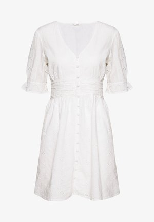 ONLODA LIFE BROD ANG DNM DRESS - Denní šaty - cloud dancer