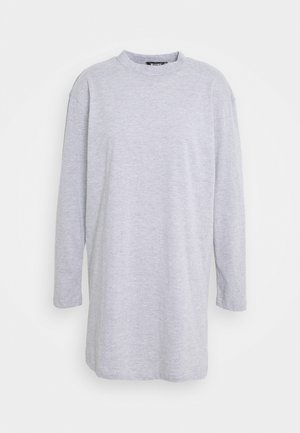 BASIC DRESS  - Jersey dress - grey marl