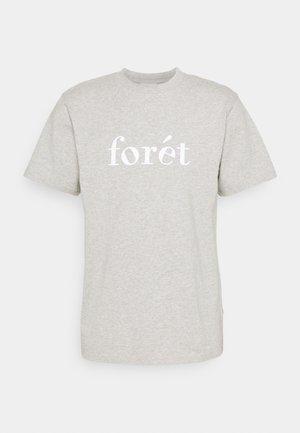 TRAIL - Print T-shirt - light grey melange/white