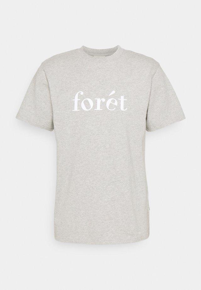 TRAIL - T-shirt con stampa - light grey melange/white
