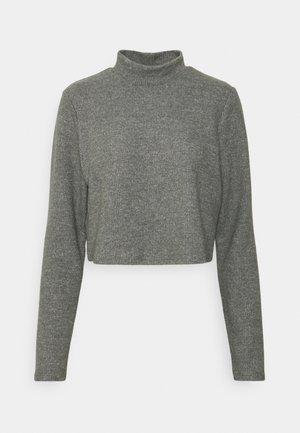 VILANO CROPPED - Stickad tröja - mottled grey