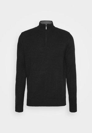 KESTER - Pullover - jet black/ dark grey marl