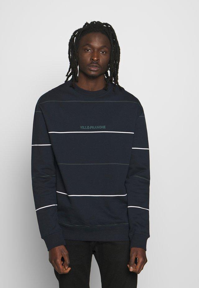STRIPED CREW - Sweatshirt - dark blue