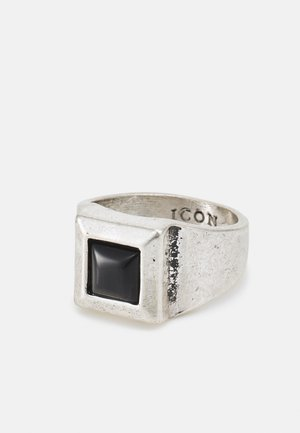 LUXE SQUARE SIGNET - Ring - silver-coloured