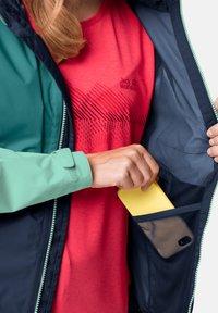 Jack Wolfskin - Waterproof jacket - dark indigo emerald green - 2