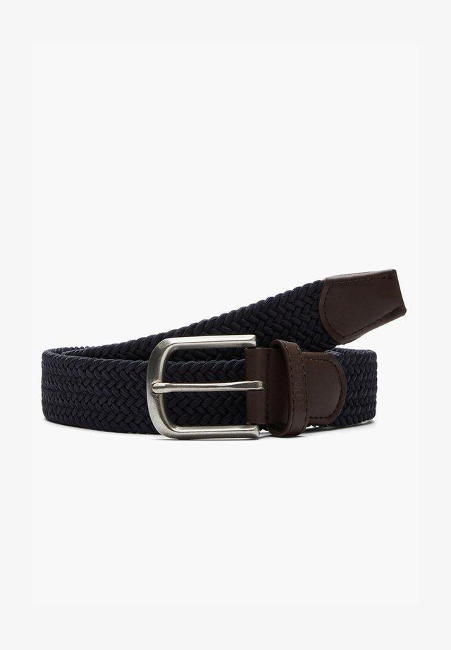 MIT DORNSCHLIESSE - Braided belt - dark blue
