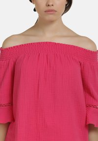 myMo - OFF-SHOULDER BLUSE - Blouse - pink