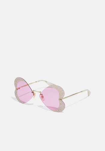 UNISEX - Sunglasses - gold-coloured/pink