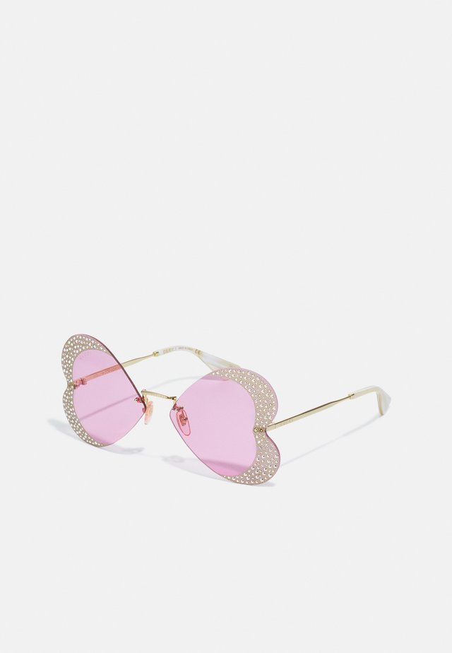 UNISEX - Aurinkolasit - gold-coloured/pink