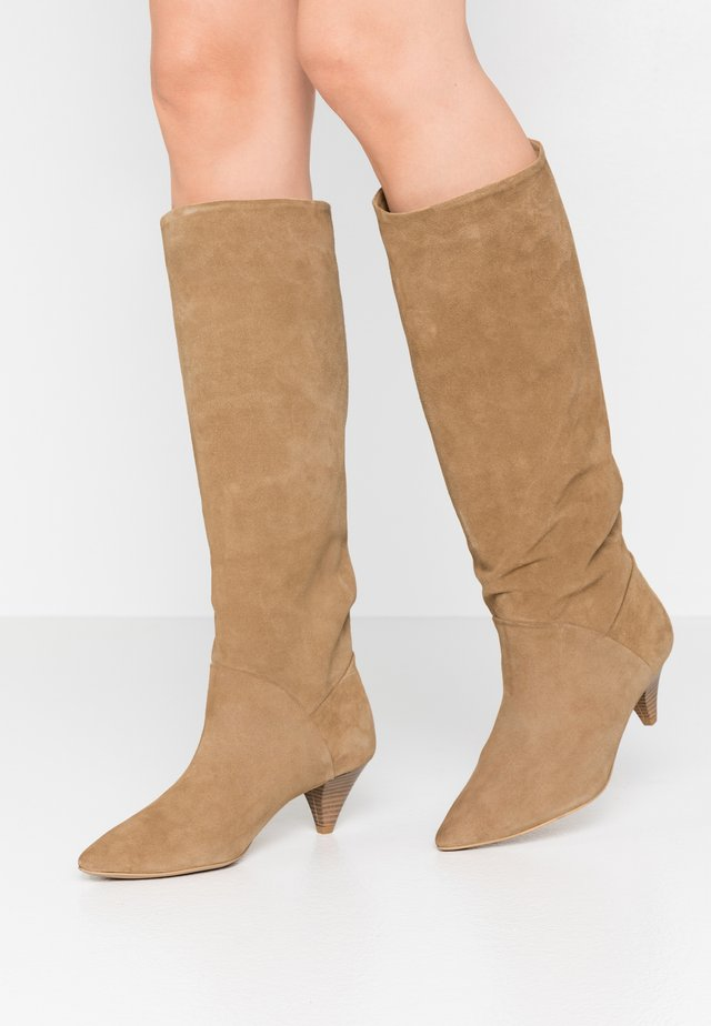 OPEN MIND HIGH - Boots - beige