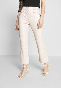Topshop - LOVE FOOL BIKER - Trousers - offwhite - 0