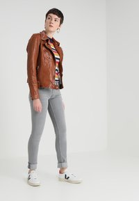 Gipsy - FAMOS - Leather jacket - cognac - 1