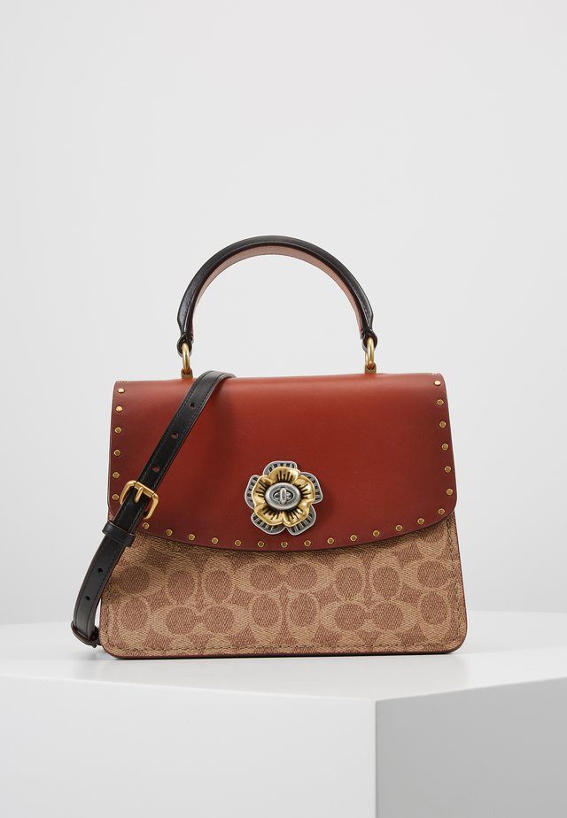 TOP HANDLE - Handbag - tan/black