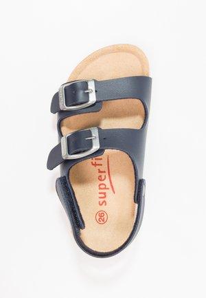 FUSSBETTPANTOFFEL - Sandaalit nilkkaremmillä - ocean