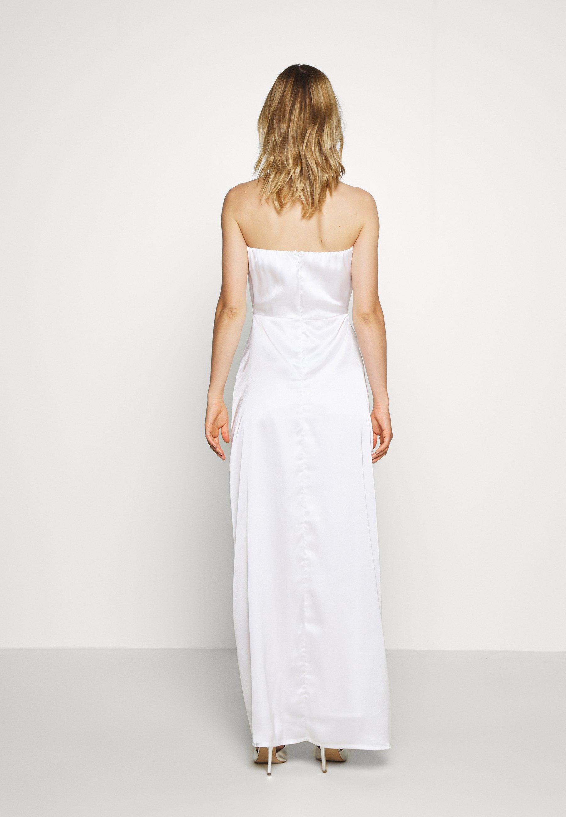 NA-KD OFF SHOULDER SLIT DRESS - Robe de cocktail - white - Robes femme DScgi