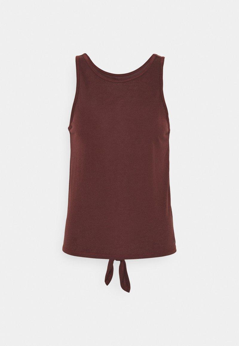 Casall - TIE BACK TANK - Top - mahogany red