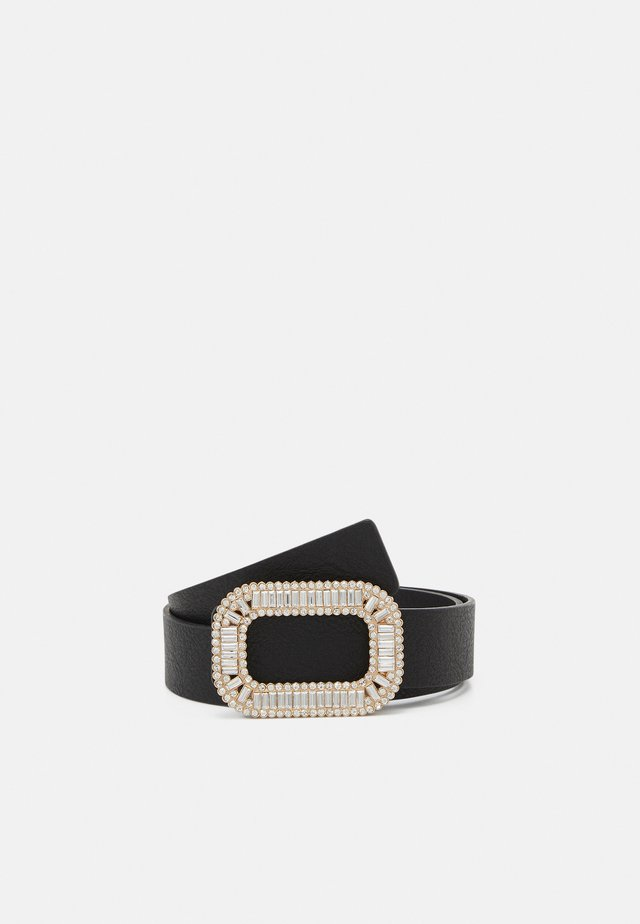PCCHRYSTLA WAIST BELT - Pásek - black/gold-coloured