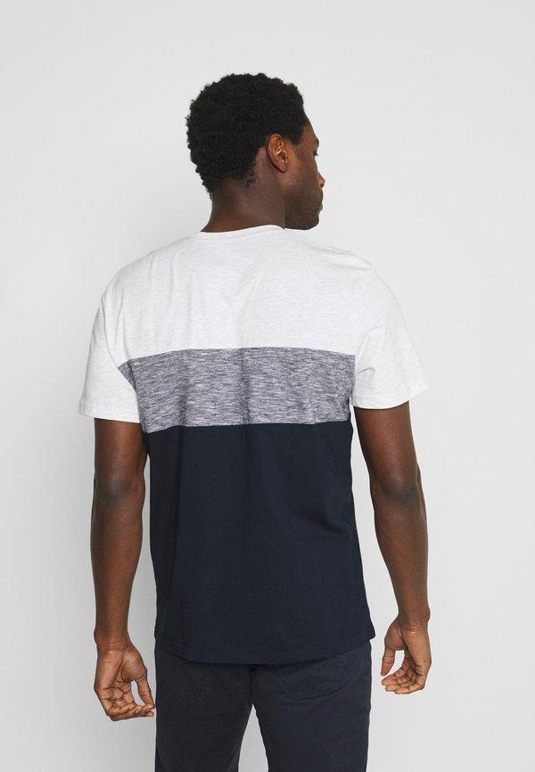 TOM TAILOR CUTLINE - T-shirt z nadrukiem - white melange/biały Odzież Męska AWBO