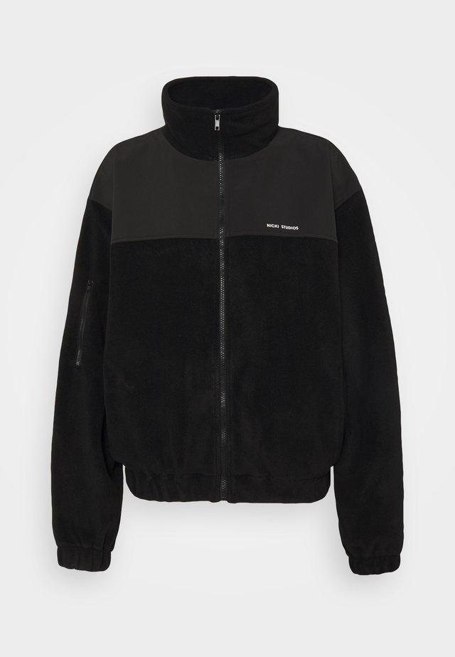LOGOJACKET - Fleece jacket - black