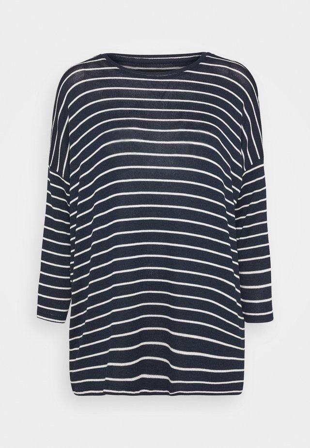 VMBRIANNA - Sweter - navy blazer/with snow white stripes