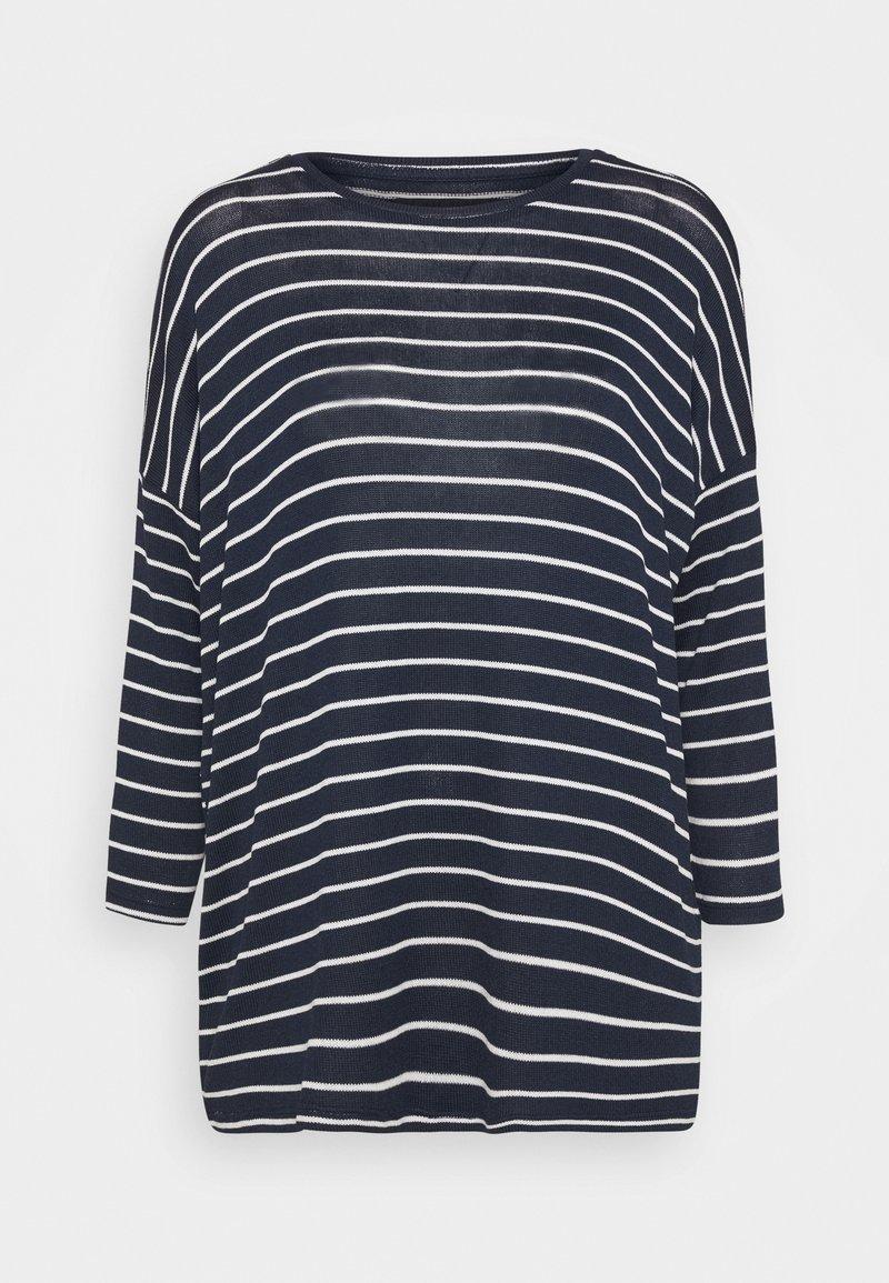 Vero Moda Tall - VMBRIANNA - Jumper - navy blazer/with snow white stripes