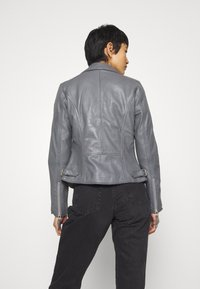 Freaky Nation - BIKER PRINCESS - Leather jacket - granite - 2