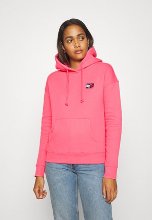 BADGE HOODIE - Jersey con capucha - glamour pink