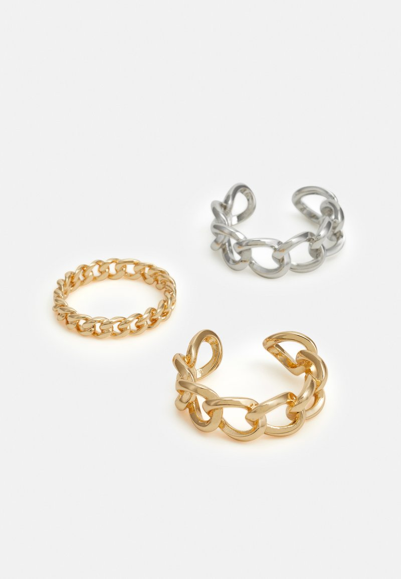 Pieces - PCNULA 3 PACK - Ringe - gold-coloured