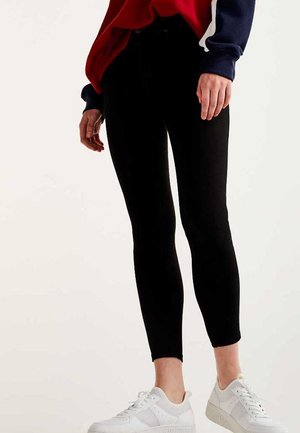 SKINNY HIGH WAIST - Jeans Skinny Fit - black