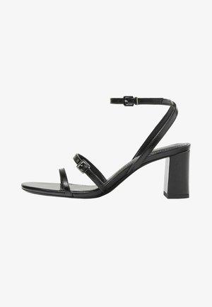 MIT HALBHOHEM ABSATZ - Sandály na vysokém podpatku - black