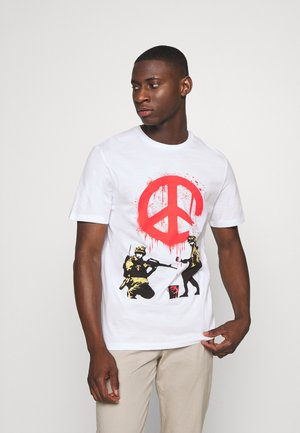 ONSBANKSY  - Print T-shirt - white