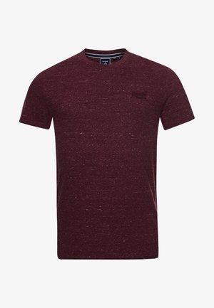 VINTAGE LOGO EMB - Basic T-shirt - burgundy heather