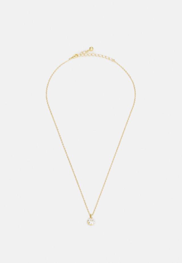 DORRIY DAISY PENDANT - Kaulakoru - gold-coloured/white