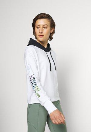 TERRY GEO HOODIE - Sweatshirt - white