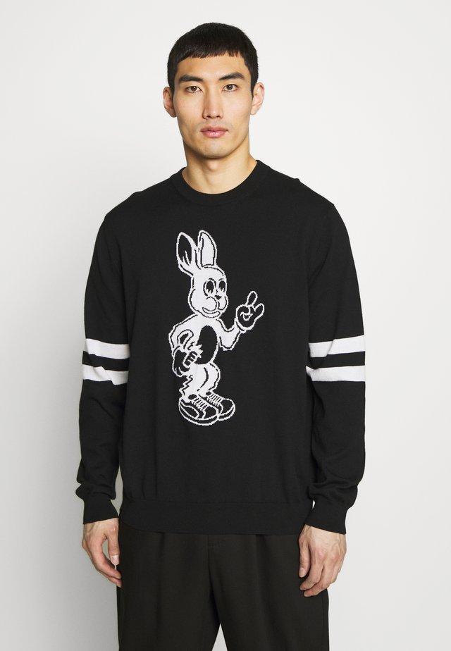 GENTS CREW NECK BUNNY - Pullover - black