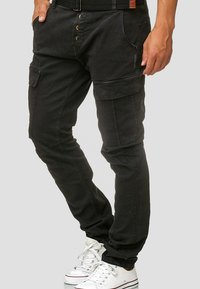 INDICODE JEANS - RAYANE - Cargo trousers - black - 3