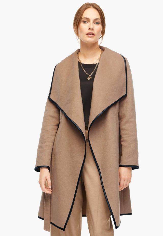 Wollmantel/klassischer Mantel - dark beige